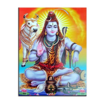 Ancient Indian holy temple worship gods Hindu deities painting Home decor simulation oil painting on the canvas print 2019042013
