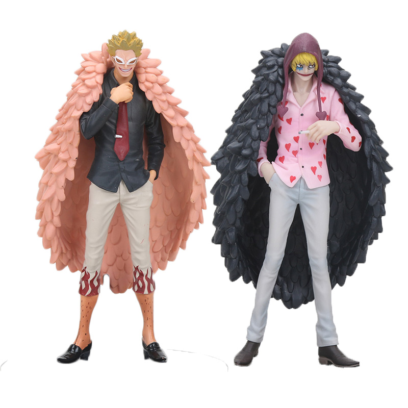 17cm Anime One Piece Action Figure Doflamingo Corazon Great All For My Heart grandline men PVC Action Figure Model Toy