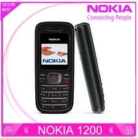 Refurbished Original NOKIA 1200 Original Unlocked Gsm 900 1800 Mobile Phone With Russian HEBREW Polish Language
