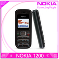 Refurbished  Original NOKIA 1200 original unlocked gsm 900/1800 mobile phone with russian HEBREW polish language Free shipping