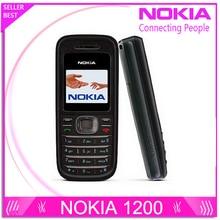Refurbished  Original NOKIA 1200 original unlocked gsm 900/1800 mobile phone with russian HEBREW polish language Free shipping