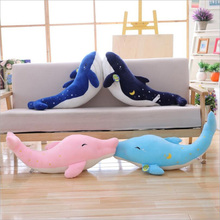 New Style Dolphin Whale Plush Toys Stuffed Animal Doll Toy Soft Plush Pillow Children Gifts Girls Birthday Gift killer whale doll pillow whale orcinus orca black and white whale plush toy doll shark kids boys girls soft toys