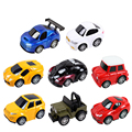 8 Sets Kid's Educational Toys Cartoon Warrior Alloy Car Toy Car Model Pull Back Mini Children's Favorite Gift Simulation Vehicle