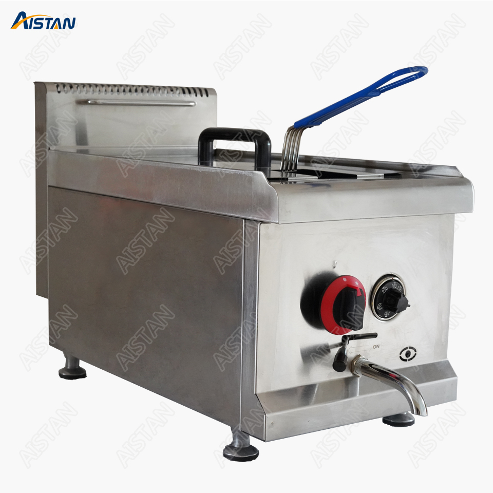 GF71A Gas Temperature-controlled Fryer With temperature control LPG Chicken Potato Fish Deep fryer for commercial use gh2 gas range with 2 burner for commercial use