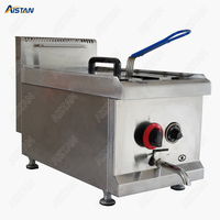 GF71A Gas Temperature controlled Fryer With temperature control LPG Chicken Potato Fish Deep fryer for commercial use