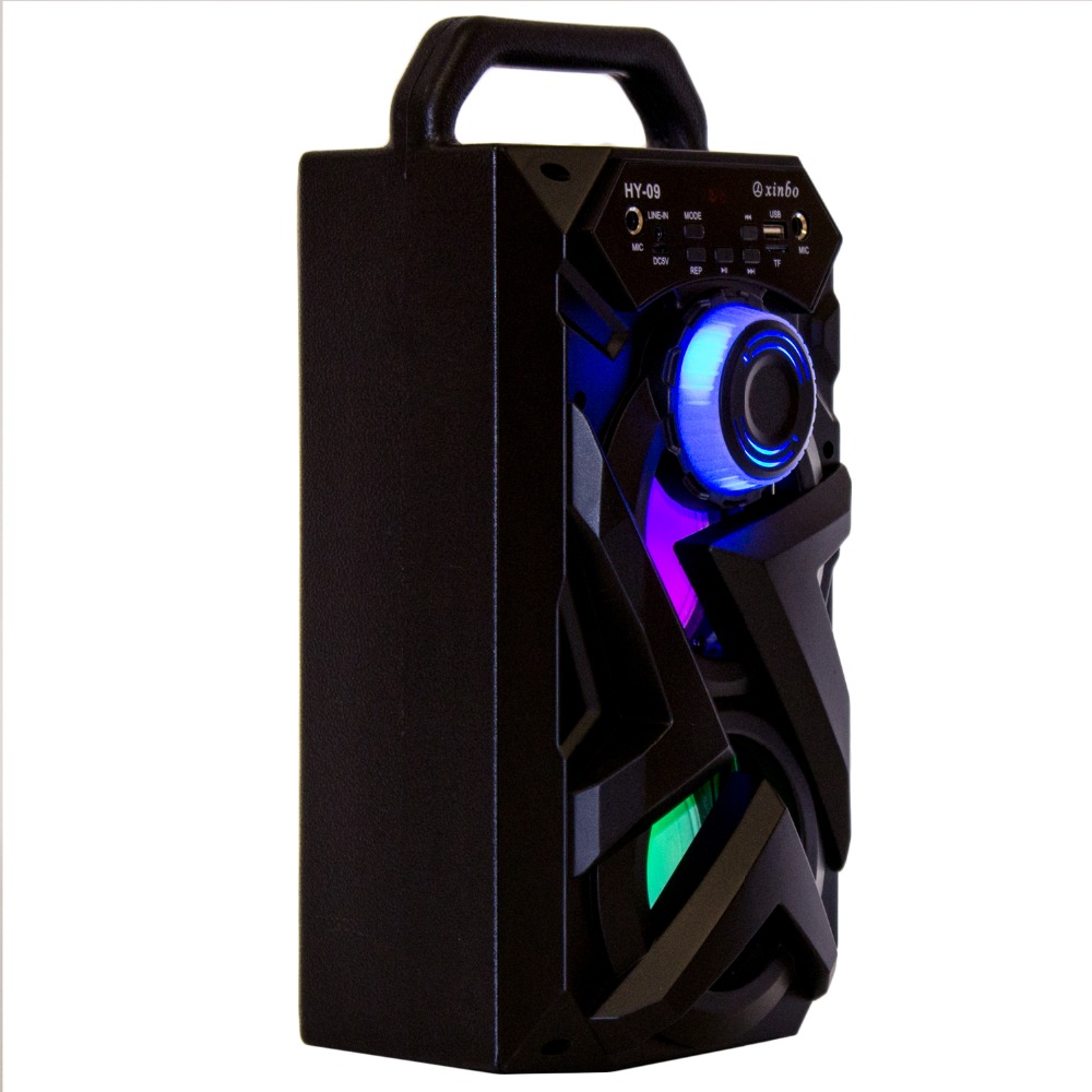 Karaoke speaker with 2 input Microphone karaoke bluetooth speaker Portable USB Reader / TF card, FM Smartphones LED Light bluetooth speaker karaoke portable with microphone mp3 fm radio usb tf card rechargeable high power