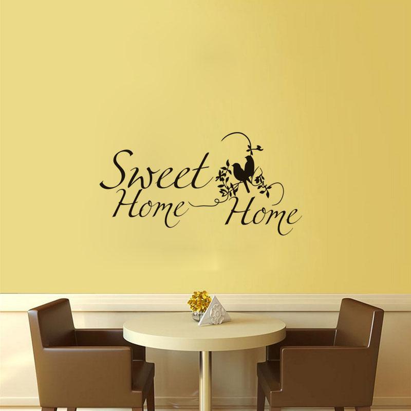 Mode Englisch Home Sweet Zitate Wandaufkleber Schmetterling Wohnkultur Aufkleber Fr WohnzimmerChina