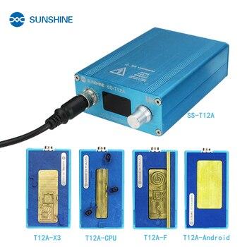 SUNSHINE SS-T12A паяльная станция Набор инструмент для ремонта материнской платы для iPhone 6 7 8 X XS мобильный телефон ЦП NAND ремонт отопления