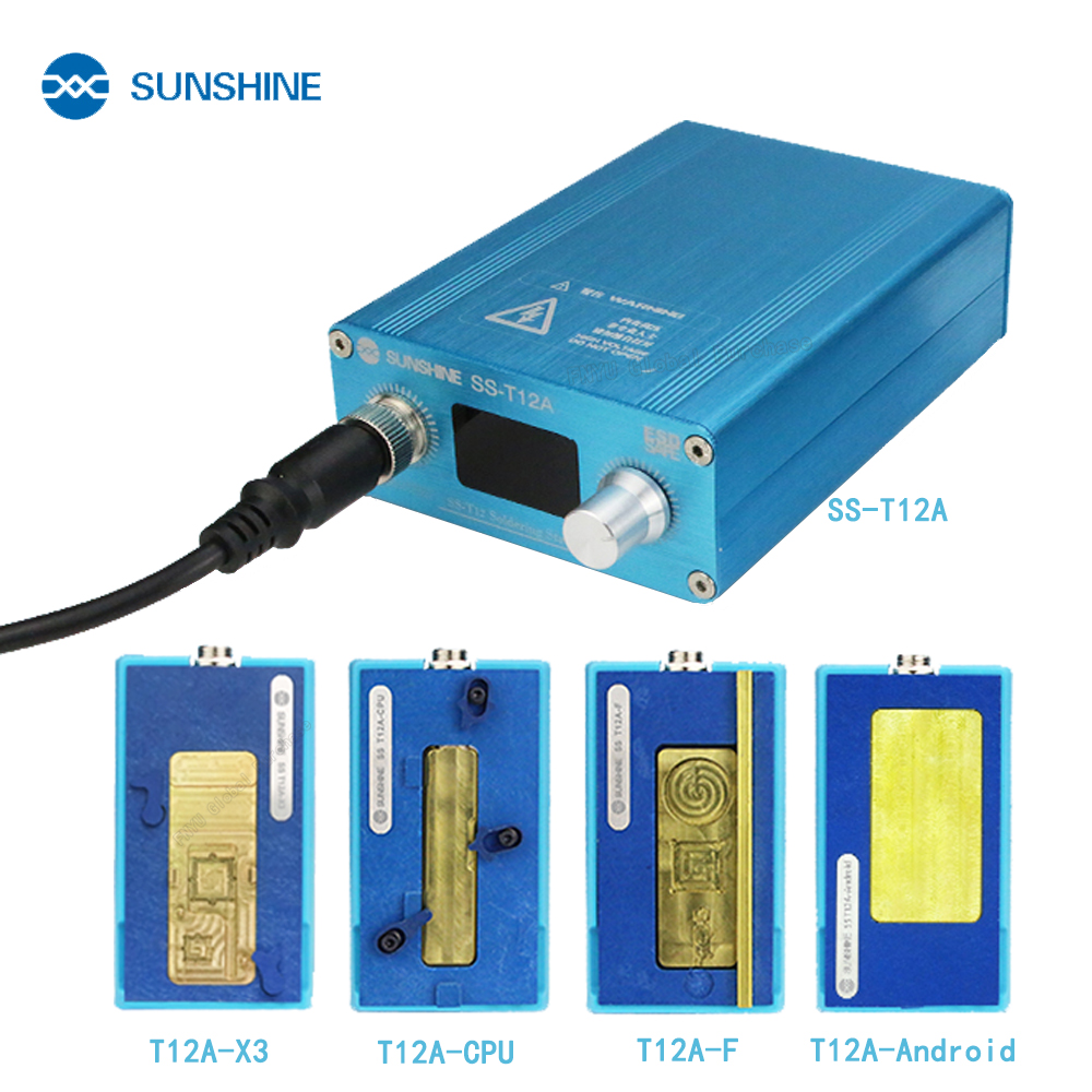 SUNSHINE SS T12A Soldering Station Kit Motherboard Repair Tool for iPhone 6 7 8 X XS Mobile Phone CPU NAND Heating Repair