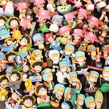 60styles frank one piece resin figure 2CM mini pop Luffy Roronoa Zoro Sanji Chopper Franky Nami Figure Toys luffy anime action