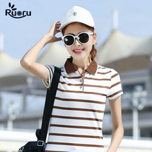 Ruoru M - 3xl Plus Size Women Polo Shirt Cotton Summer Short Sleeve Casual Femininas New Polos Brand