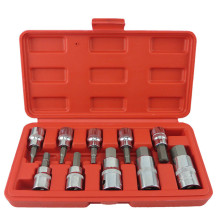 10PC Hex Bit Socket Set Metric Sze 3/8 & 1/2 Drive Key Allen Head Hand Tool