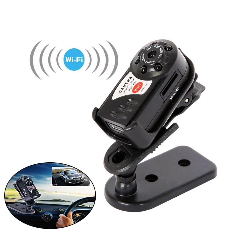 Q7 WiFi IP мини-камера ИК Ночное Видение P2P Беспроводная микро-камера Дистанционное управление видео Espia Candid для iPhone Android