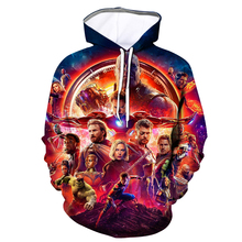 Avengers: Endgame 3D Print Unisex Hoodies 2019 Newest Avengers movie Superhero Hip Hop Style Hot Sale TOPS