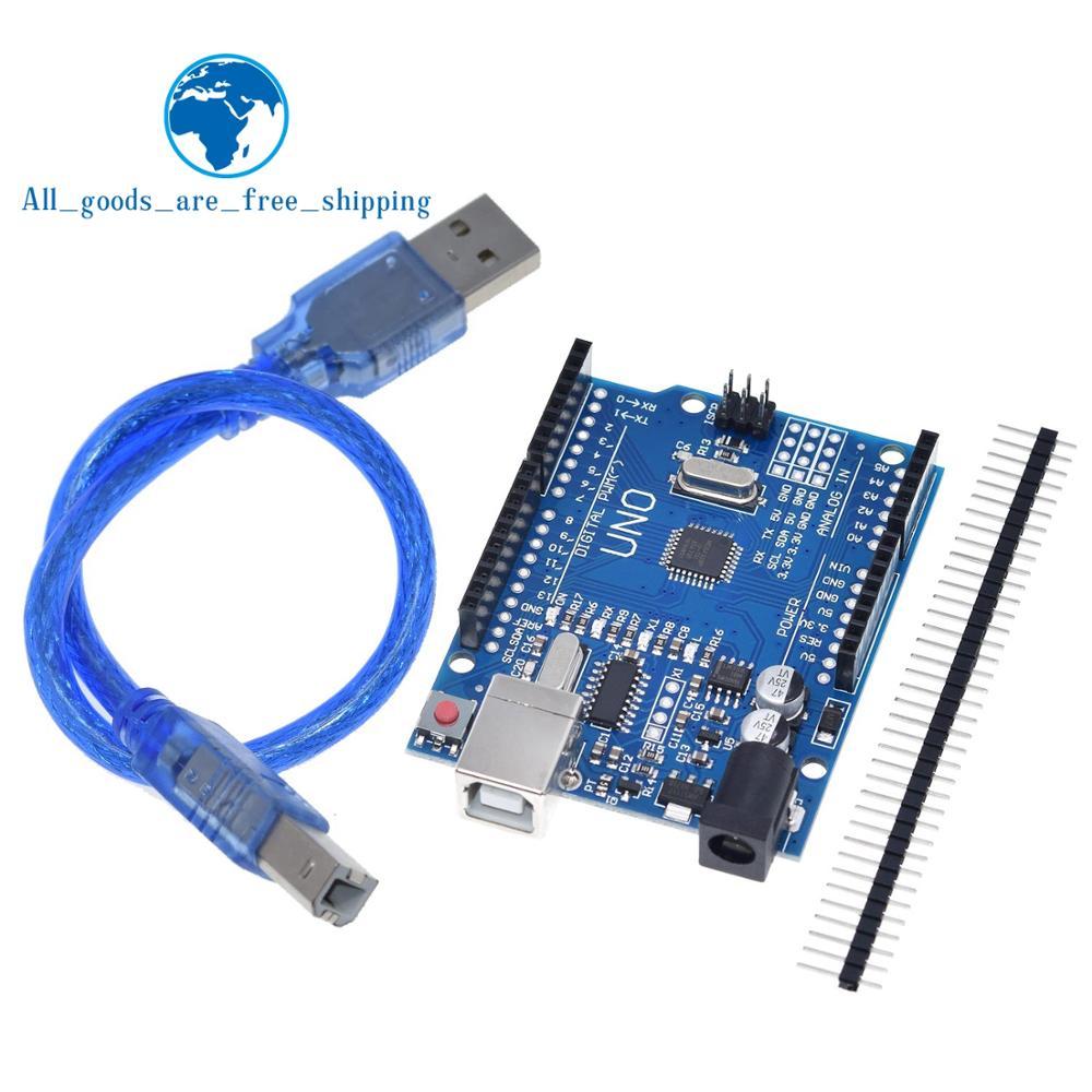 ❤️ TZT UNO R3 Development Board ATmega328P CH340 CH340G For Arduino UNO R3  With Straight Pin