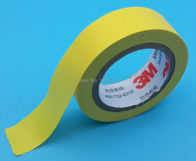 US $8 88 |5Pcs 3M 1500 Vinyl Electrical Tape Insulation Adhesive Tape  Yellow-in Tape from Home Improvement on Aliexpress com | Alibaba Group