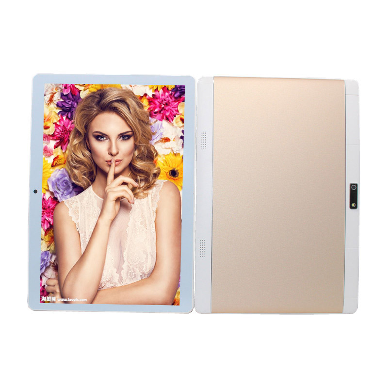 Glavey MTK6735 Android 6.0 Quad-Core 10.1 Inch 4G Lte Phone Call Tablet PC  Wifi 1280 X 800 IPS Gold Tablet  1GB /16GB