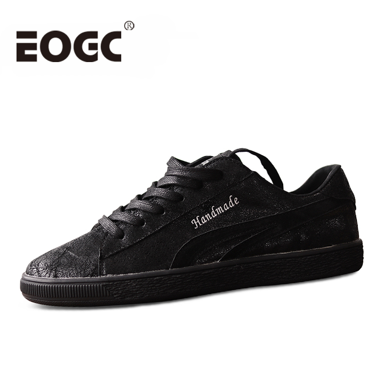 Men's Genuine Leather Casual Shoes Fashion Classic Men Flats Black walking  handmade men shoes