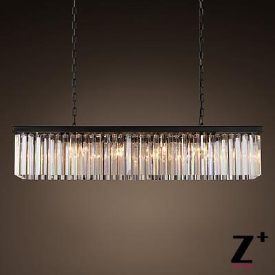 Ipari hosszúságú 80 cm-es TISZT ÜVEG-PRISM Téglalap alakú - Beltéri világítás