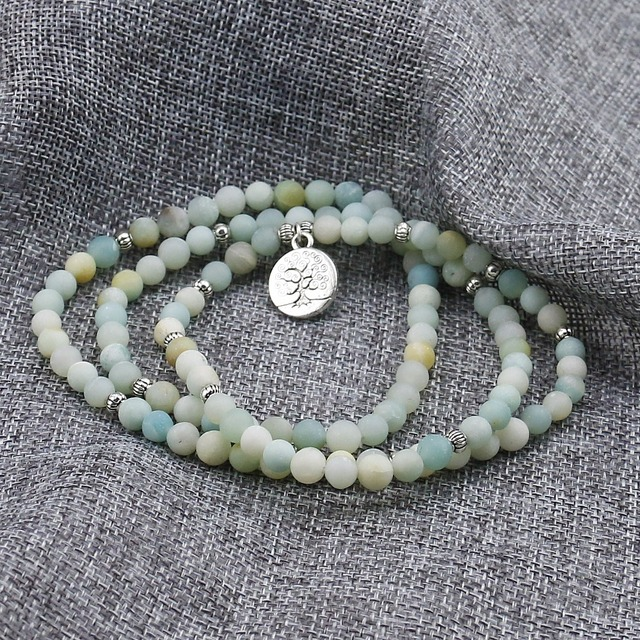 6mm Frosted Amazonite Mala 1