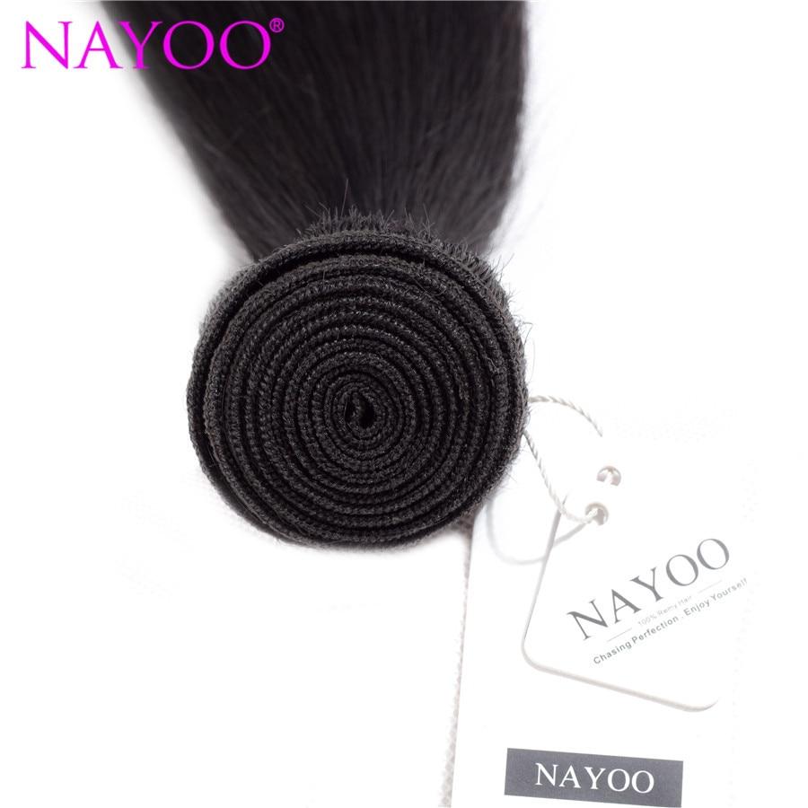NAYOO brasilianska Remy Hair 8-26 tums 100% brasilianska - Mänskligt hår (svart) - Foto 3
