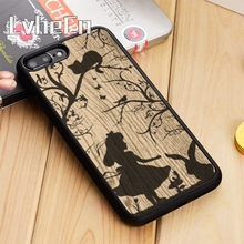 LvheCn Alice in wonderland silhouette vintage Phone Case Cover For iPhone 5  5s 6 6s 7 ad3f98dee194