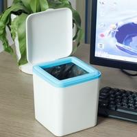 Clamshell tabla mini basura caja de almacenamiento casa Oficina diversos organizador basura