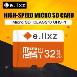 E. lixz 10 шт./лот оптовая цена 100% реальная емкость TF карта/Micro SD карта 8 ГБ 16 ГБ 32 ГБ 64 Гб класс 10 карта памяти Microsd