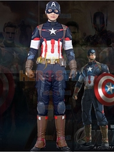 (SUP011)The Avengers 2 Age of Ultron Captain America Cosplay Zentai Superhero Suit Halloween Party Costume