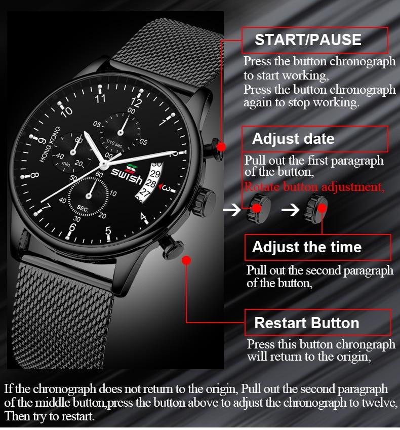 HTB1DbGkafWG3KVjSZFgq6zTspXaO SWISH 2019 Top Brand Luxury Mens Watches Waterproof Stainless Steel Wristwatch Mens Chronograph Casual Quartz Watch
