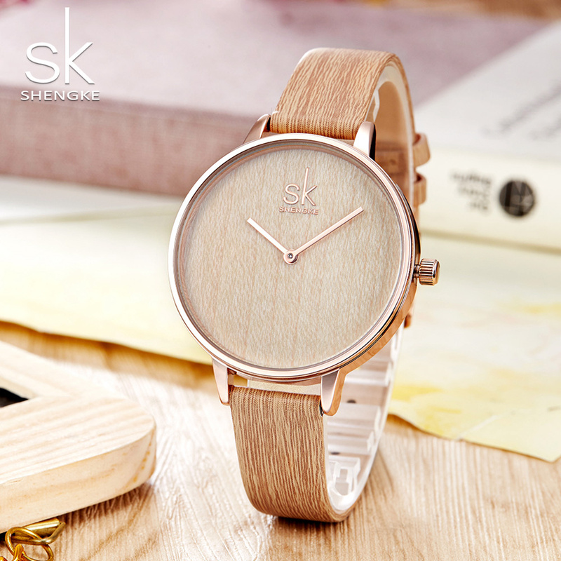 Shengke 2018 New Wood Watch Fashion Women Watches Luxury Casual Waterproof Quartz Watch Female Wristwatch Relogio Feminino rigardu fashion female wrist watch lovers gift leather band alloy case wristwatch women lady quartz watch relogio feminino 25