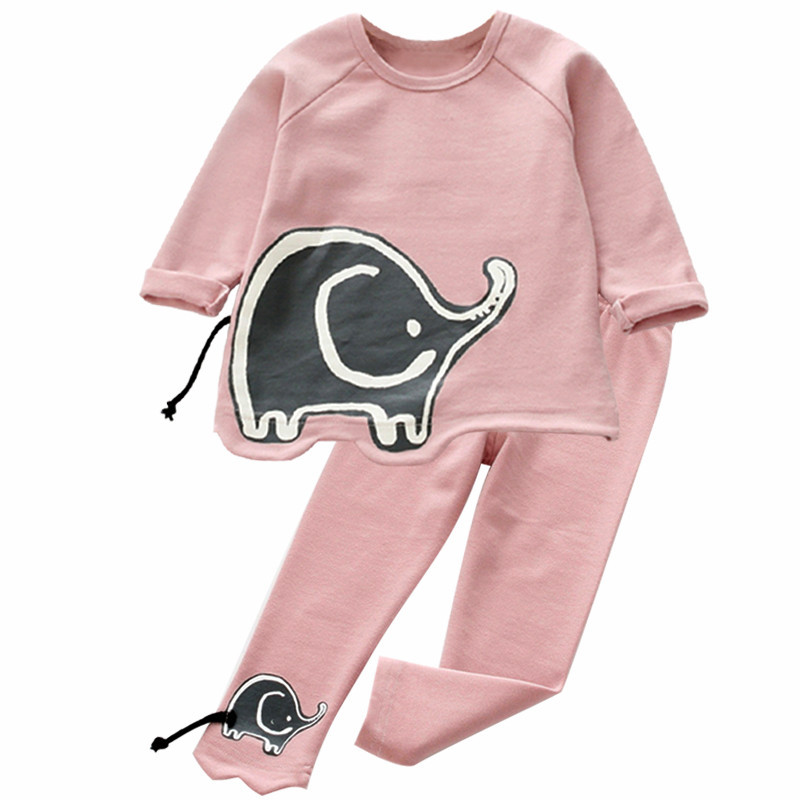 Children Boys Clothes 2017 new Autumn Winter Baby Girls Clothes Set T-shirt+Pants 2pcs Kids Sport Suit For Girls Clothing Sets