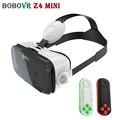 BOBOVR Z4 МИНИ Гарнитура 3D Очки Виртуальной Реальности Картонный Шлем vrbox Головкой Для Крепления на '-6' Телефон + Mocute Bluetooth Remote