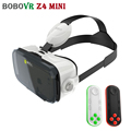 BOBOVR Z4 MINI Headset 3D Glasses Virtual Reality Cardboard Helmet vrbox Head Mount For 4'-6' Phone + Mocute Bluetooth Remote