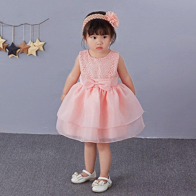 Rosa 1 años Niña Vestido princesa cumpleaños boda Formal Vestido ...