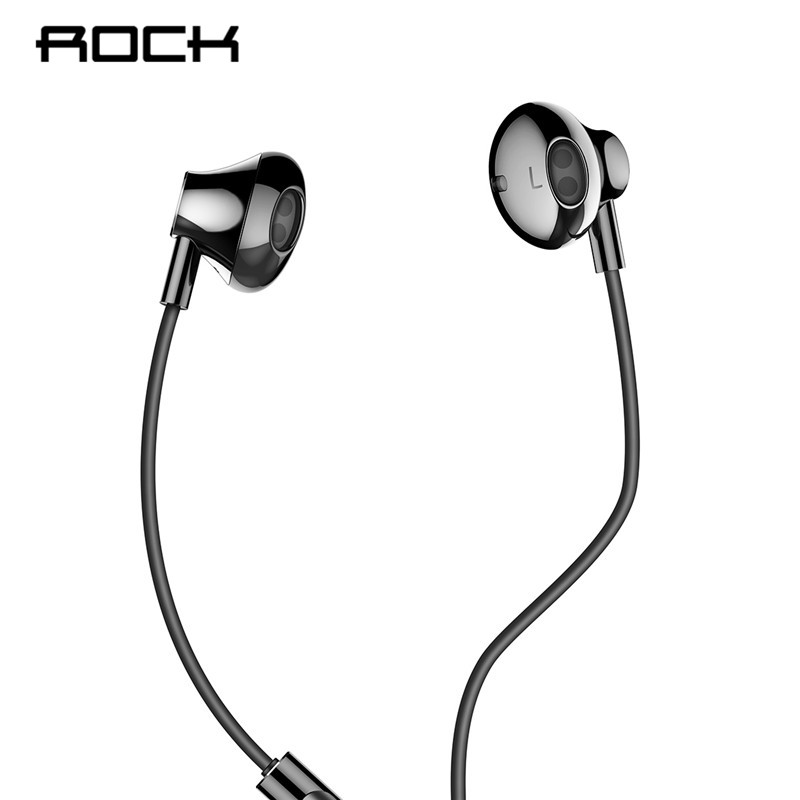 Rock 3.5mm Wired Earphone With Mic In-ear Earbuds Earphones Universal Stereo Sport Headset Noise Isolating for iphone Samsung new wired earphone mee audio m6 pro universal fit noise isolating earphones musician s in ear monitors headset good than pb3 pb