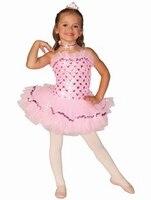 2018 Sevimli Kız Çocuklar Için Bale Elbise Kız Dans Giyim Çocuk Kız Dans Leotard Için Bale Kostümleri Kız Dancewear B-2427