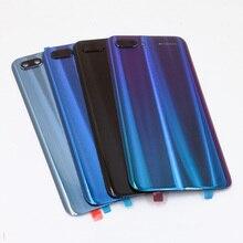 100% מקורי זכוכית עבור Huawei honor 10 חזרה סוללה כיסוי אחורי דלת שיכון מקרה זכוכית החלפת פנל + מצלמה עדשה + דבק
