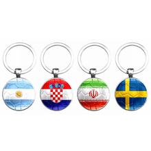 ФОТО 5-0 Trendy Nation Flag Keychain Football Soccer Country Fans Party  World Carnival Souvenir s Keyring Key Chain Jewelry