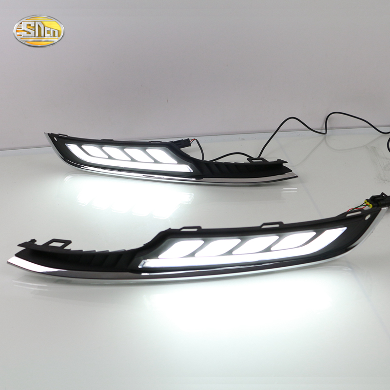 SNCN Daytime Running Lights For VW Volkswagen Golf 7 2013 2014 LED DRL with Yellow Turning Signal Lights Fog lamp футболка wearcraft premium slim fit printio каждую пятницу