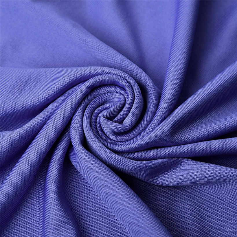 夏 2019 カジュアルドレス新ファッションスリムフィット o-ネックミニ黒紫色のドレスセクシーなボディコンドレスハーフ O ネックシース夏 #1