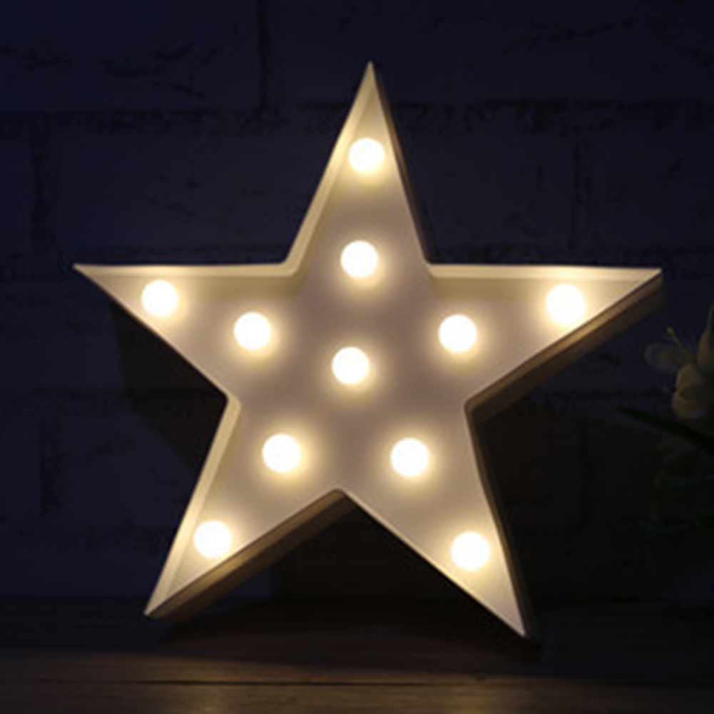LED Night Light Star Table Lamps Romantic 3D Wall Lamp Kids Gift Home Decor 1pc