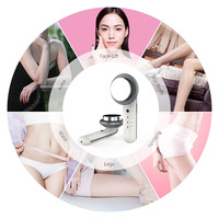 Face Ultrasonic fat massager EMS Body Slimming Massager Weight Loss Fat Burner Galvanic Infrared Ultrasonic Wave Therapy Machine