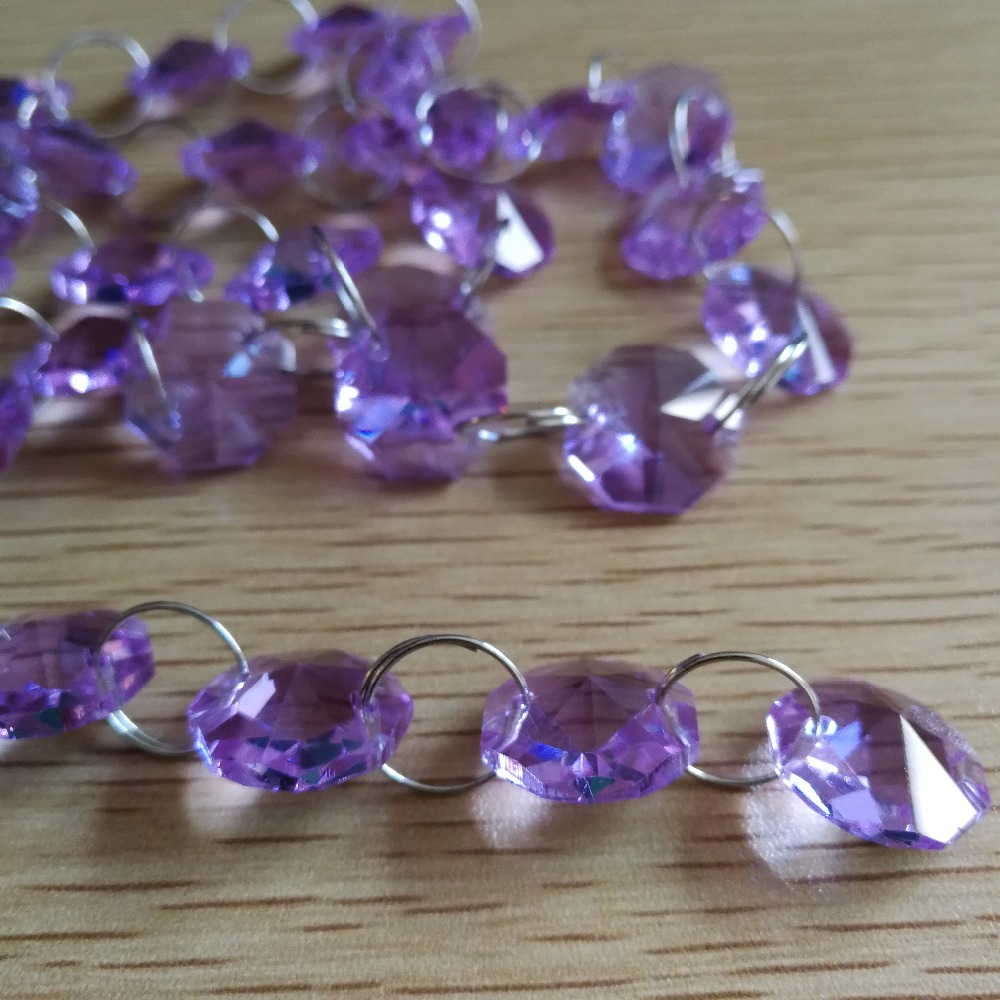 10meters lilac octagon bead chain decorative glass bead strand 10meters lilac octagon bead chain decorative glass bead strand chandelier lamp chains glass garland strand for wedding arubaitofo Images
