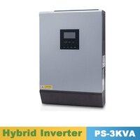 3000VA 2400 Вт чистая синусоида гибридный солнечный инвертор 24VDC вход 220VAC выход построить в 50A ШИМ солнечное зарядное устройство контроллер