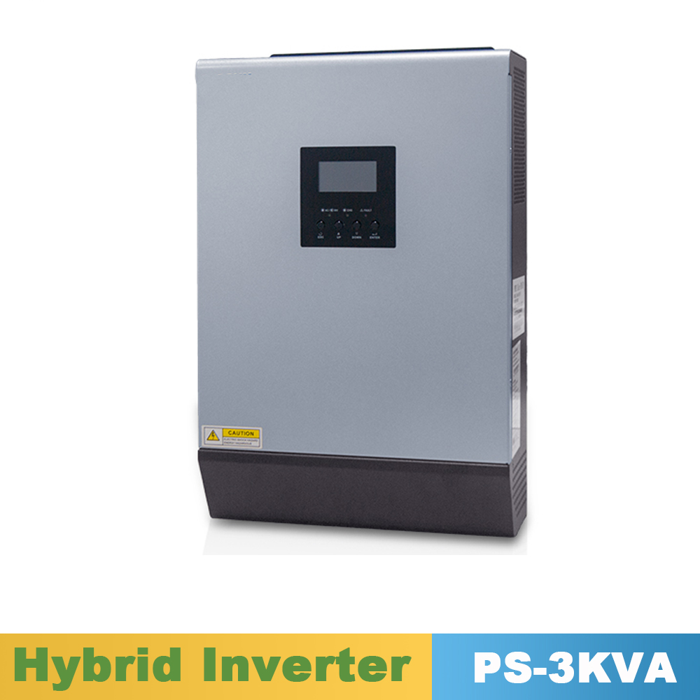 цена на 3000VA 2400W Pure Sine Wave Hybrid Solar Inverter 24VDC Input 220VAC Output Build in 50A PWM Solar Charger Controller&AC Charger
