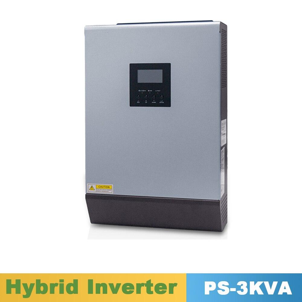 3000VA 2400W Reine Sinus Welle Hybrid Solar Inverter 24VDC Eingang 220VAC Ausgang Bauen in 50A PWM Solar Ladegerät Controller & AC Ladegerät