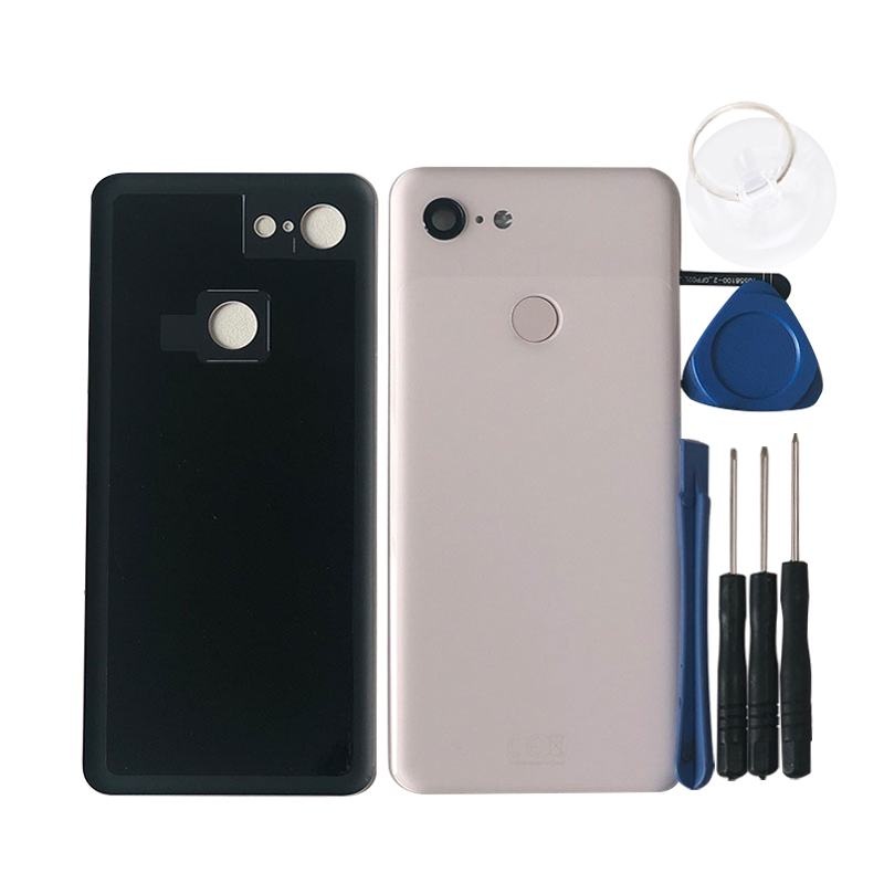"""Image 5 - Original M&Sen For 5.5"""" HTC Google Pixel 3 GLASS Back Battery Cover Case+Fingerprint+Glass Lens For Google Pixel 3 Rear Housing-in Mobile Phone Housings & Frames from Cellphones & Telecommunications"""