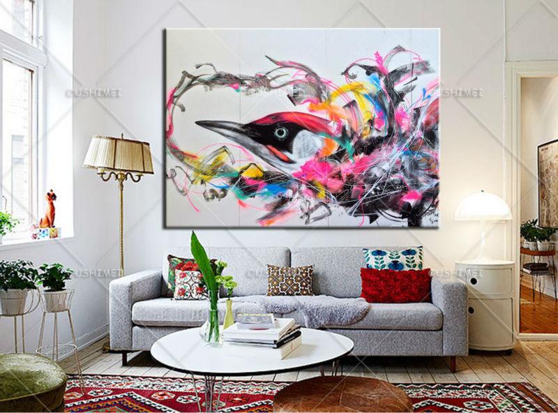 Aliexpress Bunte Vogel Tier Bilder Lgemlde Wand Dekor Leinwand Pop Art Cuadros Malerei Fr Wohnzimmer Unframed Von Verlsslichen Painting For Living