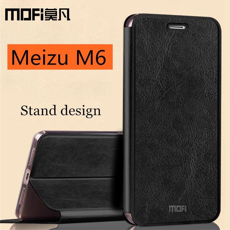 Meizu M6 copertura della cassa Meizu M6 mini vibrazione del cuoio della copertura del silicone cassa posteriore dura proteggere capas MOFi originale Meizu meilan m6 5.2